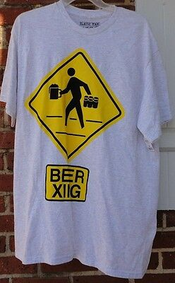 Brand New Men's Beer Crossing Light Gray Short Sleeve T-Shirt size M NEW NWT!