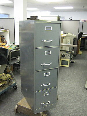 Vintage Steel Vertical Office File Cabinets, Letter, 4 Drawers, Gray (34 Avail.)