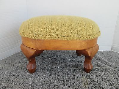 Antique Vintage Wood Foot Stool  Small
