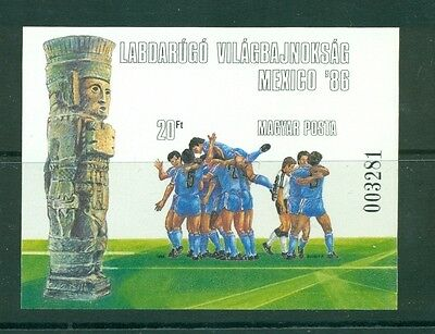 Hungary #2985 (1986 World Cup sheet) VFMNH imperforate CV $17.50