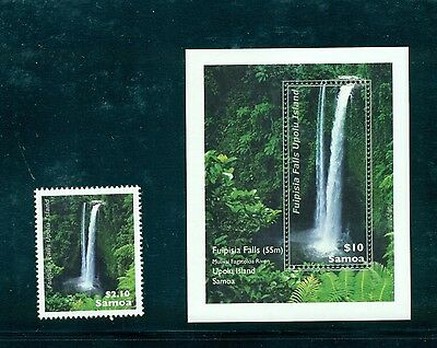 Samoa #1140-41- 2013 Fuipisia Waterfall  set and sheet VFMNH CV $10.65