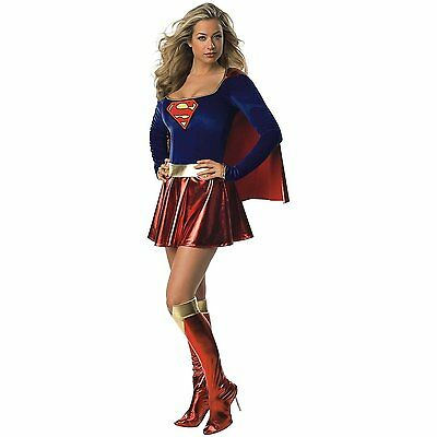 Deluxe Supergirl Halloween Party Costume - X-Small - Dress Size