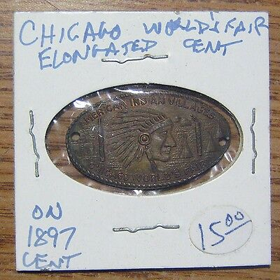 Chicago World Fair On 1897 Cent Elongated Cent Take a Look