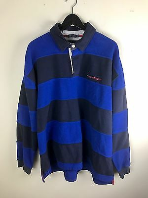 Vintage Tommy Hilfiger Long Sleeve Polo Style Shirt Men's (Size XXL)