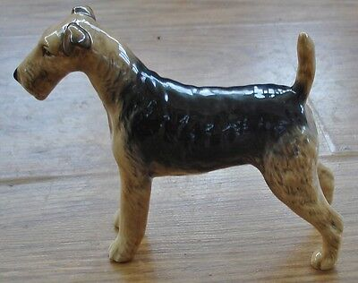 "Beswick Cast Iron Monarch Airdale Terrier Dog Figurine -- 5 1/2"" by 5 3/4"""