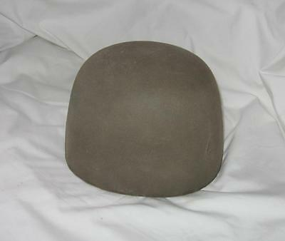 Vintage Early Wooden Wood Block Hat Mold Millinery Form 7-3/8 Felt Covered