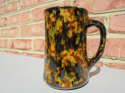 Old Antique Rockingham Bennington Flint Enamel Style Tankard Mug Excellent