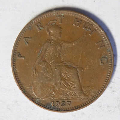Great Britain 1927 1 Farthing Coin