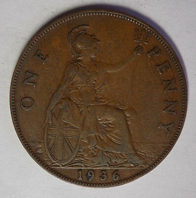 Great Britain 1936 1 Penny Coin.
