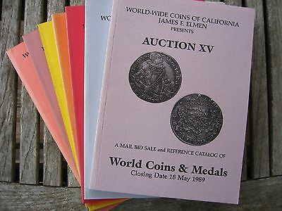Lot of (7) World Coins and Medals Mail Bid/Reference Catalogs