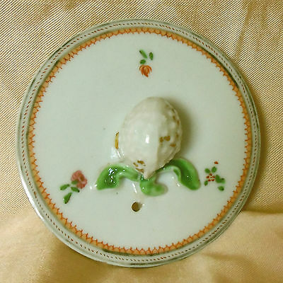 Late Eighteenth Century Chinese Export Teapot Lid Pinecone Finial