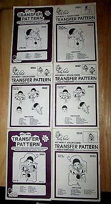 Pretty Punch Hot Iron Color Coded Transfer Pattern Punch Embroidery Craft Mimes