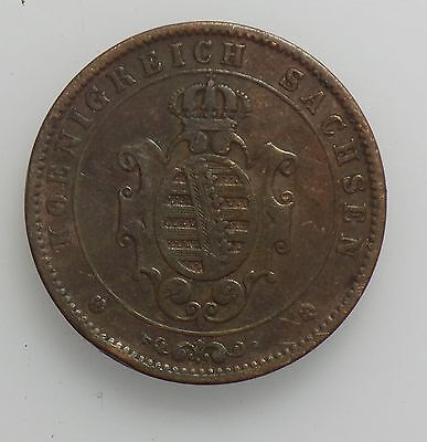 Kingdom of Saxony (Saxony-Albertine) 1862 5 Pfennig coin