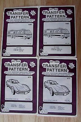 Pretty Punch Color Coded Transfer Pattern Punch Embroider Craft Bus Corvette Lot