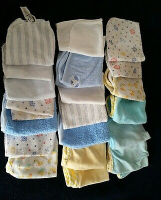 Lot of baby washcloths 21 pieces wash cloth rags