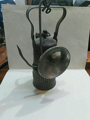Antique Dewar Manufacturing Carbide Miners Lamp.
