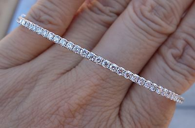 2.90ct E/VS1 Diamond bangle micro-pave bracelet 18k WG