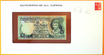 Northern Ireland  1979 - 1 Pound - Unc. Banknote enclosed in stamped envelope