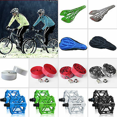 Bike Accessories Flat-Platform Pedals / 3D Seats Cushion/ Saddle Seat /Handlebar