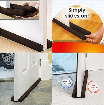 1Pcs Energy Saving Protector Door Doorstop Home Twin Guard Stopper Draft Dodger