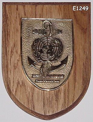 Marine Messing- Wappen Emblem UNIFIL MARROPS Task Force 448 .........E1249