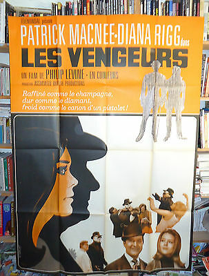 PATRICK MACNEE+DIANA RIGG/THE AVENGERS/french poster