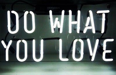 """Do what you love HOME LAMP Bar LED Beer Club Foods POSTER NEON LIGHT SIGN 14""""X7"""""""