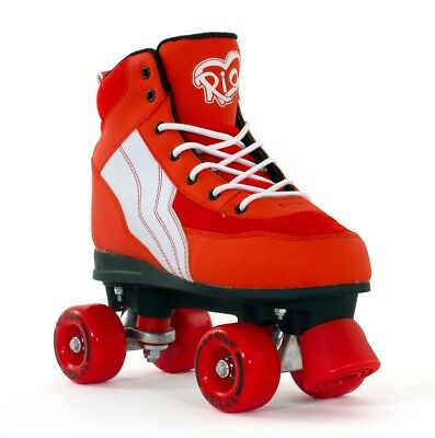 Rio Roller Pure Kids/Adult Quad Roller Skates Red/White