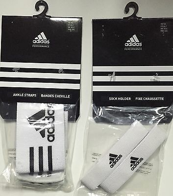 Adidas performance white sock holder  ankle straps straps