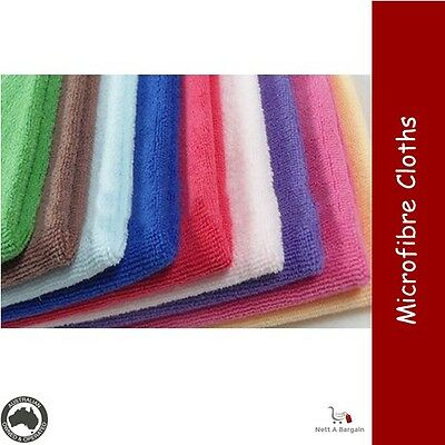 1 x 10 Pack MICROFIBRE Wash Cleaning Duster Kitchen Laundry Cloth Asst Colours