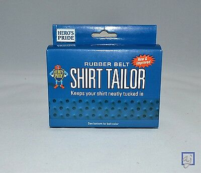 Shirt Tailor Belt ~ HEAVY DUTY Rubber Shirt Stay for Uniforms, Police, Military