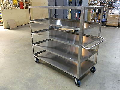 """Jamco XE360 Stainless Steel 5-Shelf Utility Cart 1800 lb. Capacity 60 """"x 60"""""""