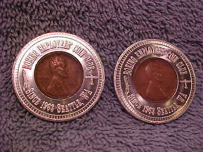 2 different Boeing Coin Club WA encased Cents Lucky Penny Washington 1948 D 1940