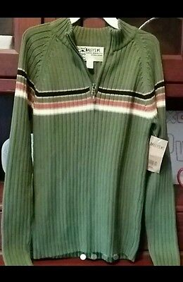Boys Bailey Point Green Sweater Size 10/12 NWT