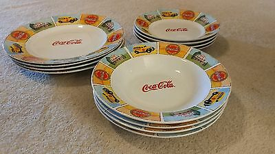 "Collectible ""Good Old Days"" Coca Cola Full Set of 12 Plates and Bowls"