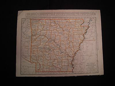 Vintage 1940 Color Map of Arizona or Arkansas from Colliers World Atlas