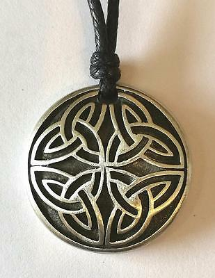 Celtic Cross of Life Pewter Pendant on Cord.