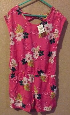 NWT The Children's Place Girls Pink Floral Romper Size 7/8!!