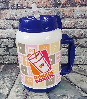 Whirley Drink Works 64 oz DUNKIN DONUTS Hot and Cold Thermos Cup, BPA Free