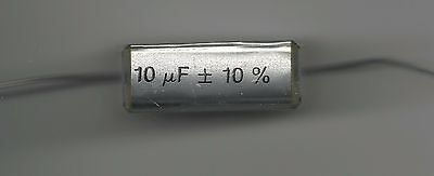 Capacitors 10uf 63v Polyester wire ended - RIFA  -  Packet of 10
