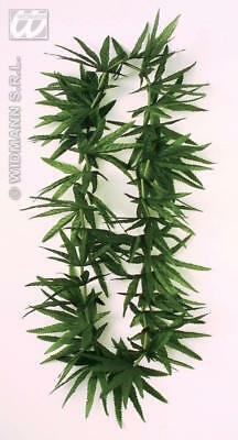 ** Hawaiian Weed Garland Fancy Dress Prop New ** Rasta Green Jamacian