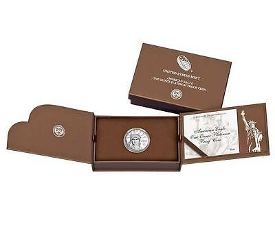 American Eagle 2016 One Ounce Platinum Proof Coin 16EJ box only - NO COIN.