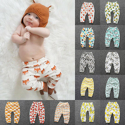 Kids Toddler Baby Boy Girl Long Pants Trousers Leggings Sweatpants Harem Bottoms