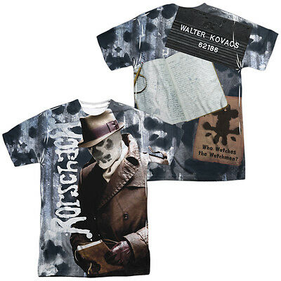 Watchmen Movie RORSCHACH PICTURE & JOURNAL 2-Sided All Over Print Poly T-Shirt