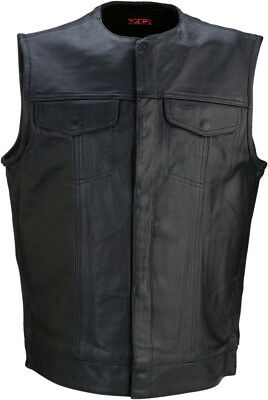 Z1R Mens 338 Motorcycle Leather Riding Vest