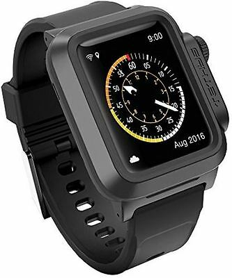 TETHYS WATERPROOF CASE For Apple Watch 38MM ONLY (Updated) (Sport/Edition 2015)