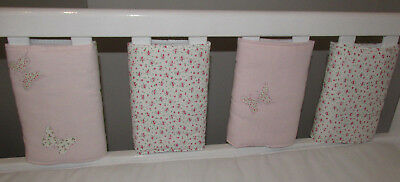 Babies Laura Ashley Bella butterfly Individual Cot Bumpers  (Large - pack of 8)