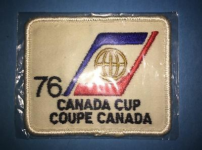 Rare Vintage 1976 Canada Cup Hockey Tournament Hat Jacket Patch Crest