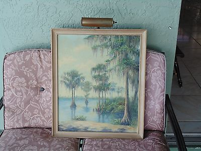 Early Vintage Fl Florida Landscape old Impressionist Oil Painting Taylor Howland