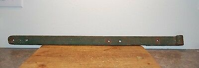 "Vintage Rustic Heavy Duty 31"" Forged Iron Barn Door Strap Hinge (F37)"
